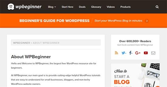 صفحه درباره ما برای وب سایت وردپرس