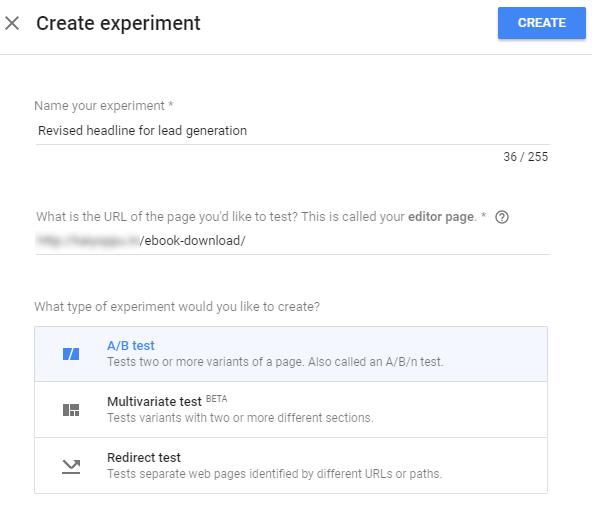 اجرای تست در گوگل آپتیمایز