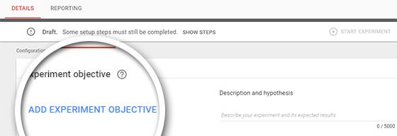 تعیین اهداف و فرضیهها در گوگل آپتیمایز